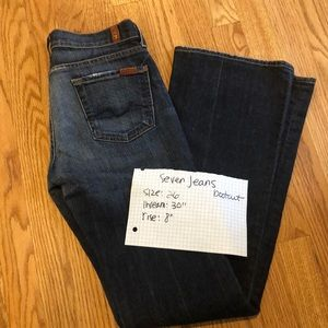 7 for all Mankind jeans sz 26 bootcut